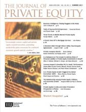 The Journal of Private Equity: 20 (3)