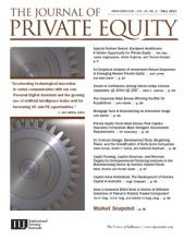 The Journal of Private Equity: 20 (4)