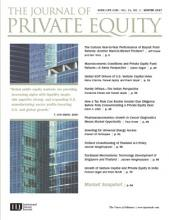 The Journal of Private Equity: 21 (1)
