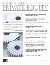 The Journal of Private Equity: 21 (2)