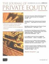 The Journal of Private Equity: 21 (3)