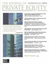 The Journal of Private Equity: 22 (1)