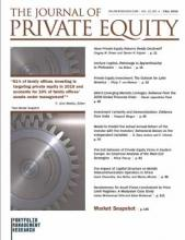 The Journal of Private Equity: 22 (4)