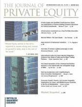 The Journal of Private Equity: 23 (1)